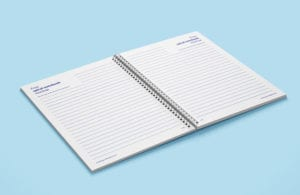 Both Open & Closed Spiral Notebook Mockup 1