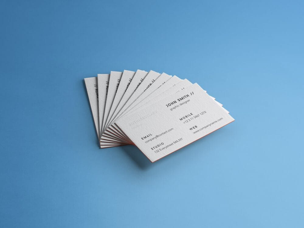 Customizable Stack of Free Business Cards Mockup PSD for Branding