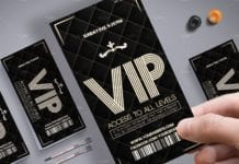 Handhold Luxury VIP Pass Card Mockup