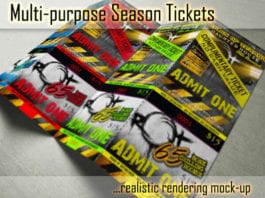 Multi Purpose Season Ticket Mockups