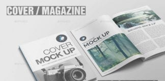 Photorealistic Cover Magazine Mockup