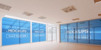 Naturalistic Interior Offices Mockups