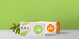 Free Photorealistic Front view Tea Packaging Mockup