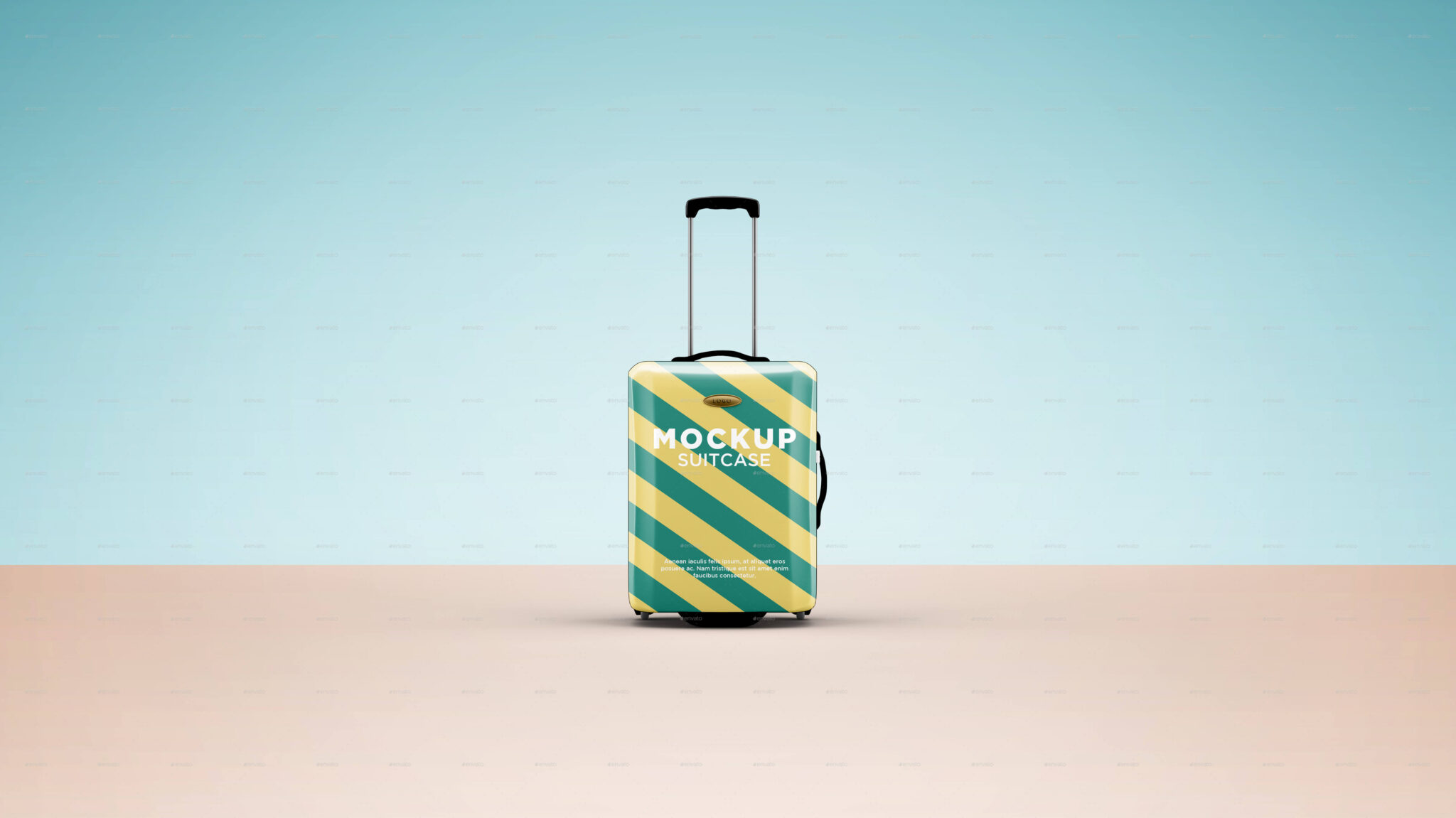 Clean Design Suitcase Bag Mockup