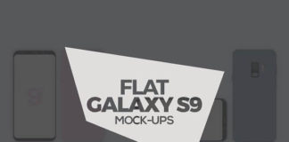 Designed Photorealistic Flat Galaxy S9 & S9 Plus MockUps