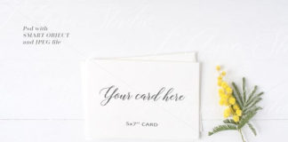 Realistic white Floral Stationery Mockup