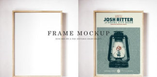 White Wall Mounted Frame Mockup