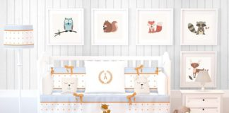 Front view Baby Room Mockup