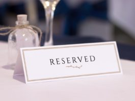 Realistic Reserved Table Card Mockups