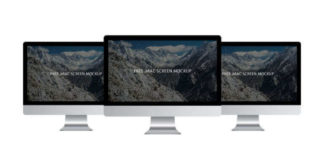 Downloadable Free iMac Screen Mockup