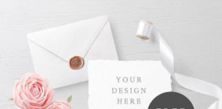 Customizable Wedding Invitation Card Mockup