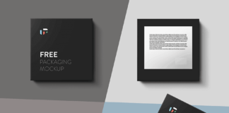 Free Black Square Box Mockup