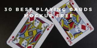 Playing Cards Mockup Free