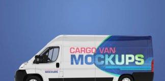 Amazing Van Mockup PSD Design