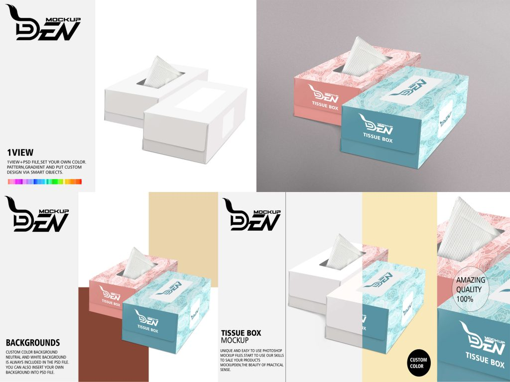 Free Luxury Tissue Box Mockup
