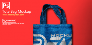 Free Abstract Print Tote bag Mockup