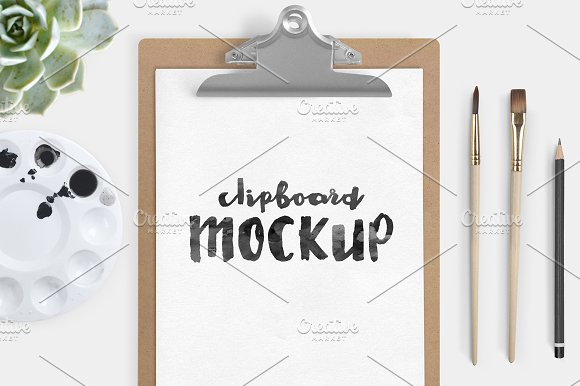 Pencil with Clipboard PSD Format Template