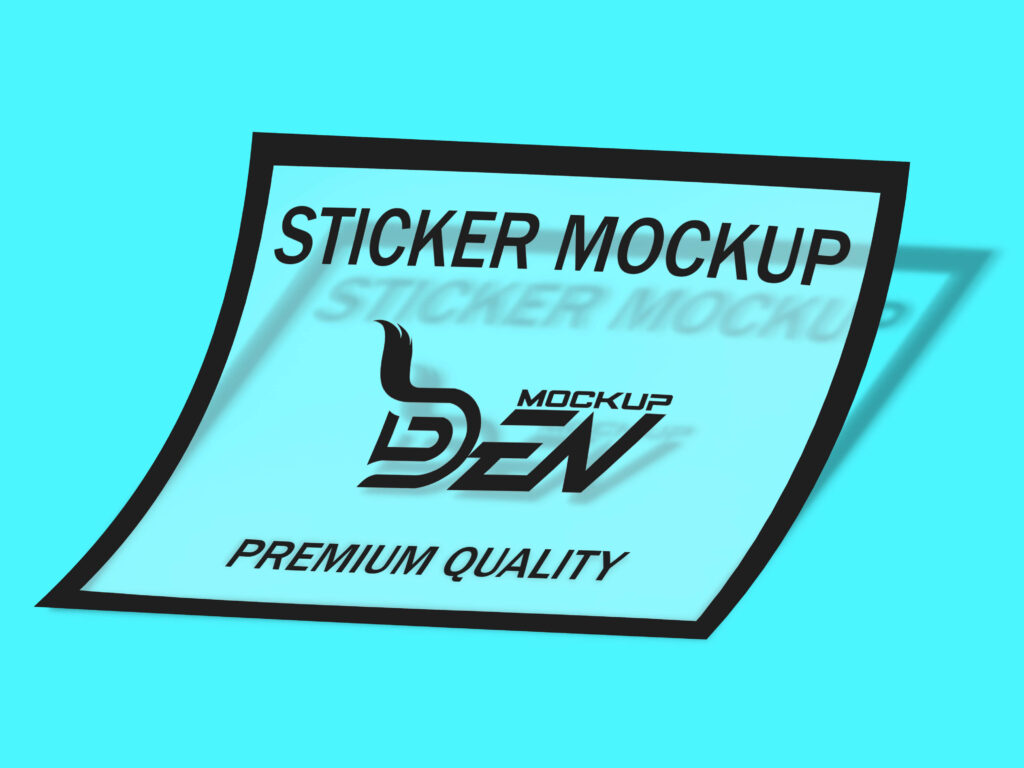 Free Transparent Sticker Mockup