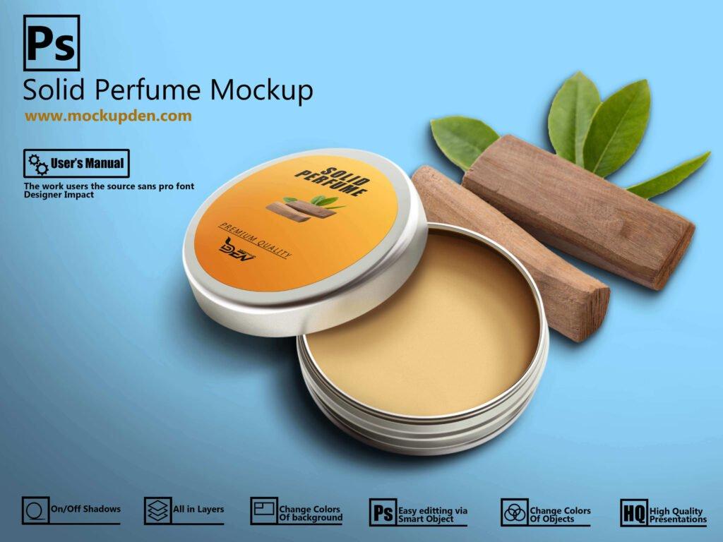 Free Solid Perfume Mockup | PSD Template Design