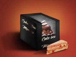 Free Glossy Cake Box Mockup