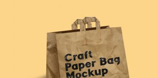 Free Craft Bag Mockup