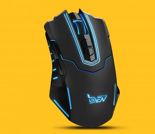 Smart Gaming Mouse Mockup Design | PSD Template