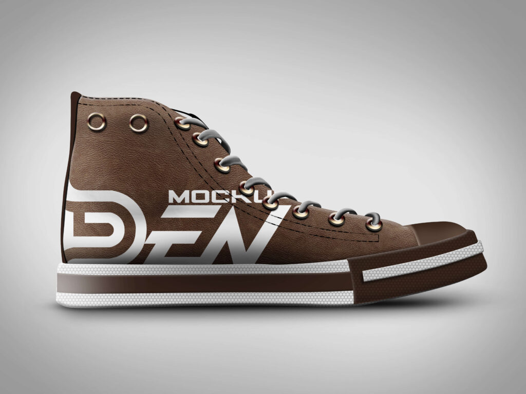 Free Brown Color Shoe Mockup