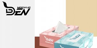 Premium Tissue Box PSD Template