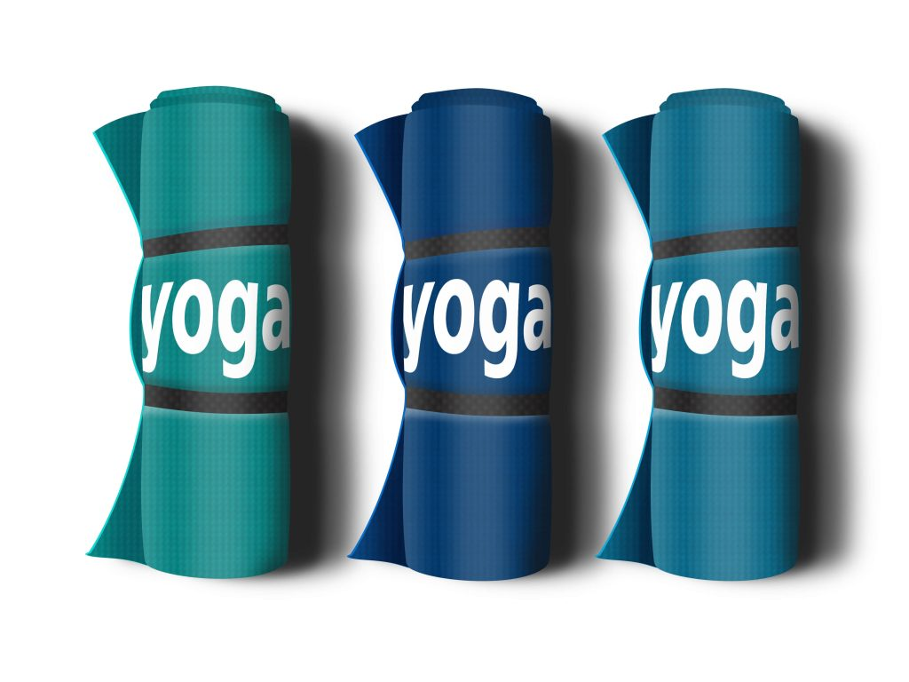 Multicolor Yoga Mat Mockup Pack | PSD Template 1
