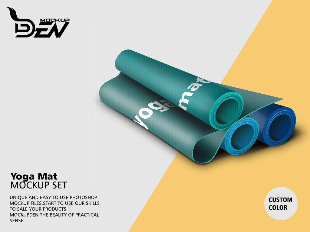 Multicolor Yoga Mat Mockup Pack | PSD Template 3
