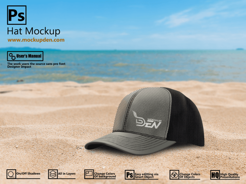 Free Smart Hat Mockup | PSD Template
