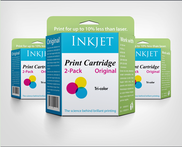 Cartridge Packet Design In PSD Format