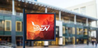 Free Blurred Background Outdoor Sign Mockup