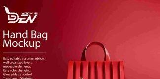 Free Glamorous Ladies Hand Bag Mockup