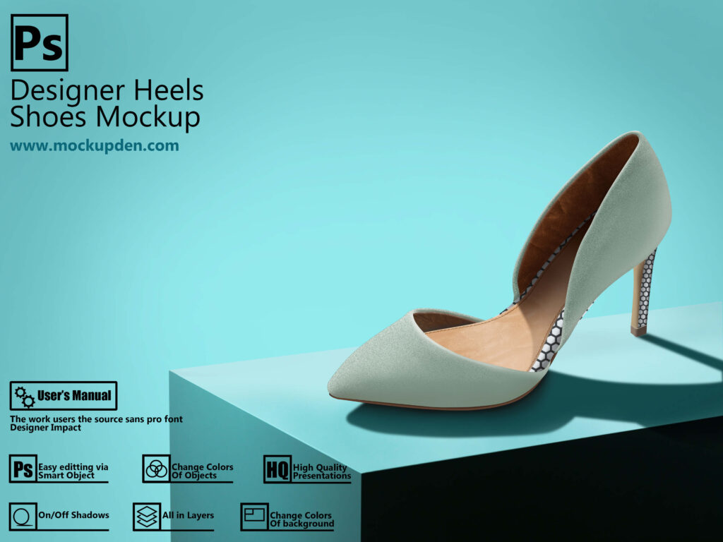 Free Multiple PSD Designer Heels Shoes Mockup | PSD Template