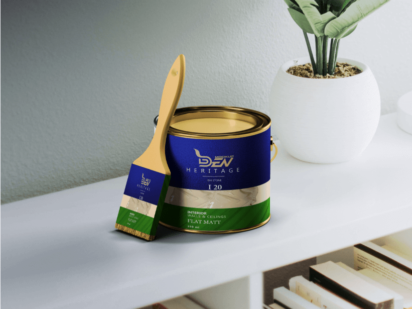 Free Tin Paint Packaging Box Mockup | PSD Template