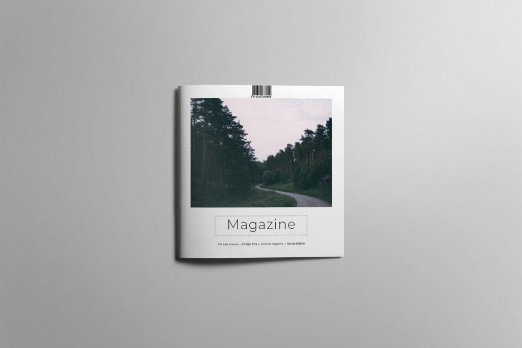 Simple and clean Magazine PSD File
