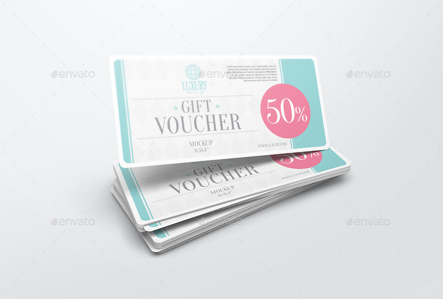 White 50% Off Gift Voucher Template Design