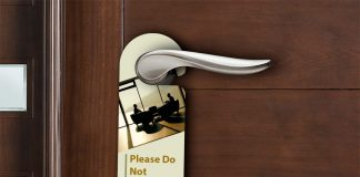 Free Corporate Theme Door Hanger Mockup