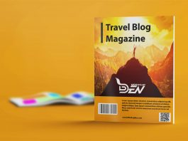 Free Travel Blog Magazine Mockup