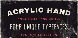 Free Acrylic Hand Painted Font