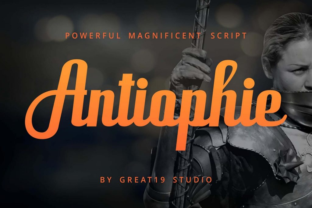 Free Antiophie Script Font Style