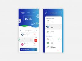 Free Blue Theme Money Spending App Template