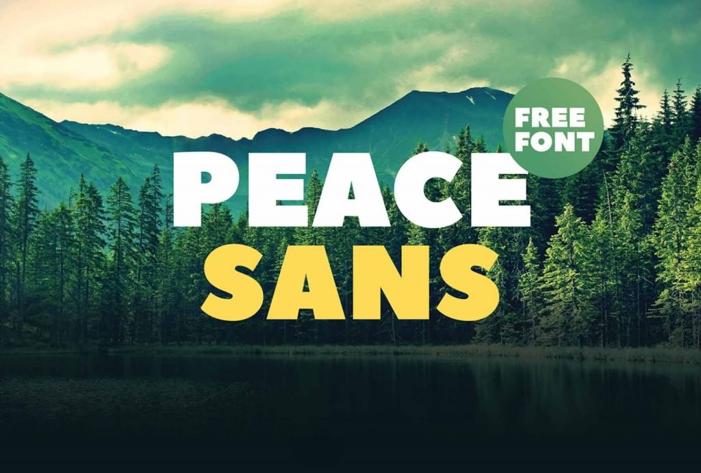 Free Peace Sans Font Style Display 1