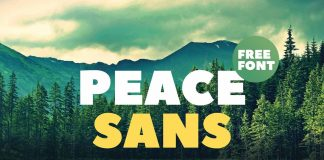 Free Peace Sans Font Style Display