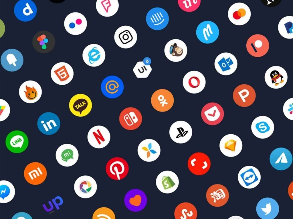 Free Social Media App Icons Illustration 1