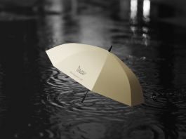 Free Yellow Color Umbrella Mockup