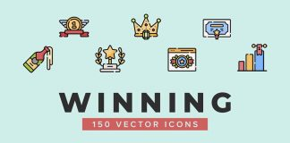 Free 50 Winning Icons Ilustration