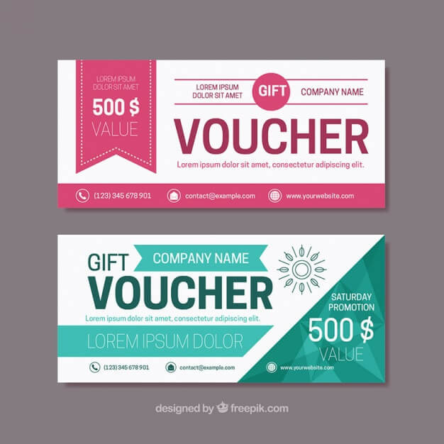 Free Bi-Color Gift Voucher Template