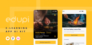 Free E-learning App Edupi Ui/Ux Kit